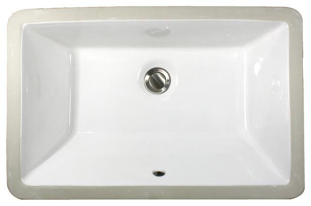 Nantucket Sinks Undermount Rectangular Ceramic Lavatory ...