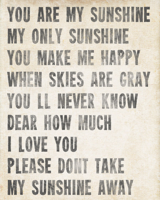 You Are My Sunshine Archival Print Antique White
