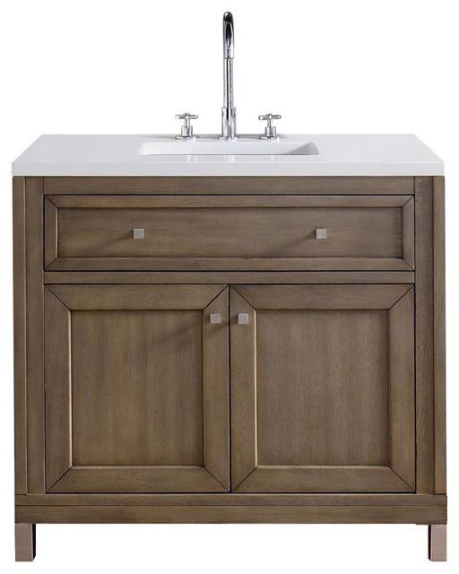 Shop houzz james martin furniture chicago 36 single for Bathroom vanities chicago suburbs