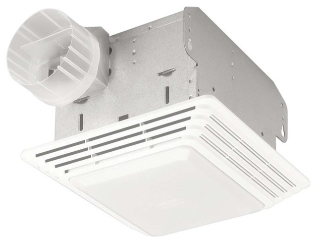 broan 678 bath fan and light duo, 50 cfm - contemporary - bathroom