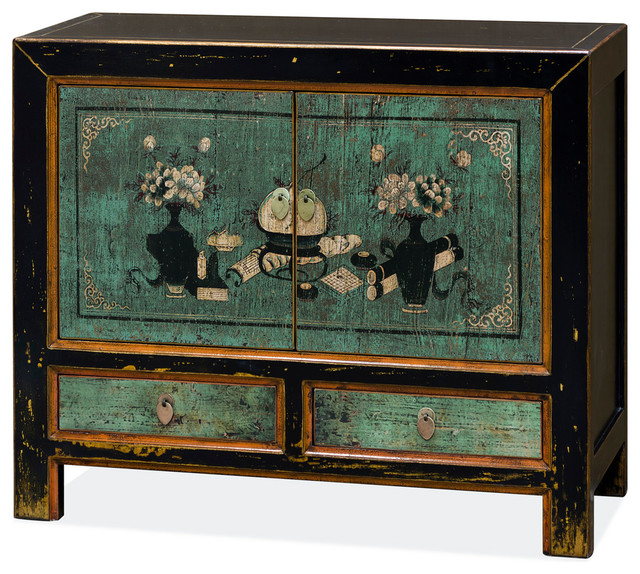 China Furniture and Arts Chinese Mandarin Cabinet With Traditional ...