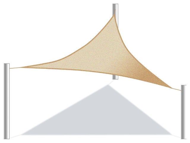 ALEKO Triangular Waterproof Sun Shade Sail Beige Color contemporary- canopies-tents-and  sc 1 st  Houzz & Aleko - ALEKO Triangular Waterproof Sun Shade Sail Beige Color ...