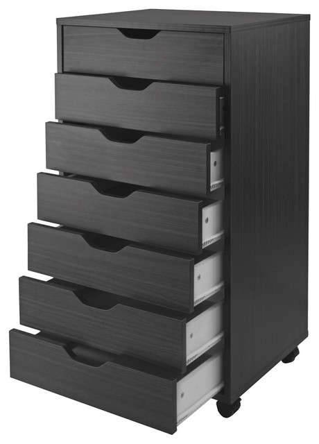 Winsome Wood HalifaxCabinet With Seven Drawers - Transitional - Filing Cabinets - by VirVentures