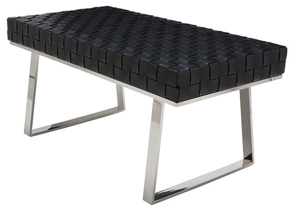 Karlee Jr. Modern Occasional Bench Black.