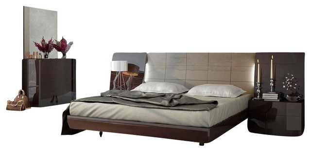 Superb Barcelona Bedroom Set By Fenicia Mobiliario, Queen Size Bed, 2 Nightstands  Modern Bedroom
