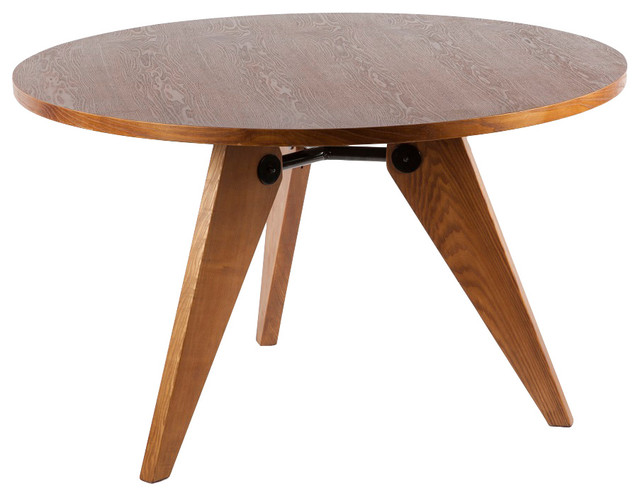 Controlbrand Prouve Standard Style Round Dining Table Walnut Reviews Houzz