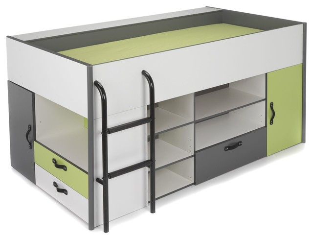 kiwi lit combin avec rangements pour enfant. Black Bedroom Furniture Sets. Home Design Ideas