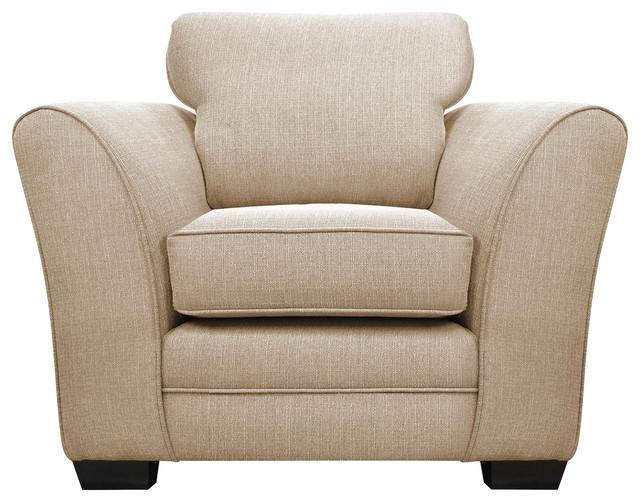 Westbridge Modern Comfort Armchair, Oyster