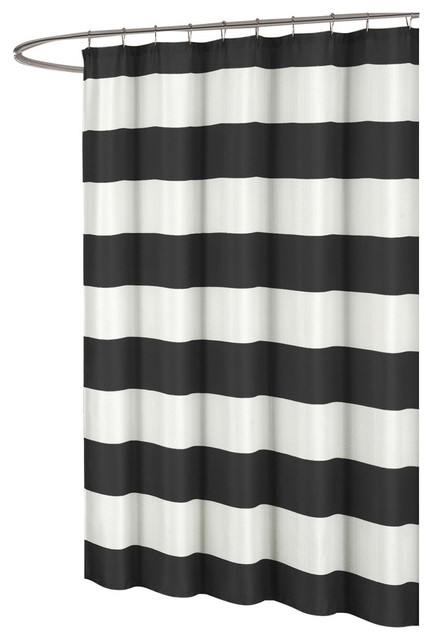 Toto Large White Stripes, Fabric Shower Curtain Duck River ...