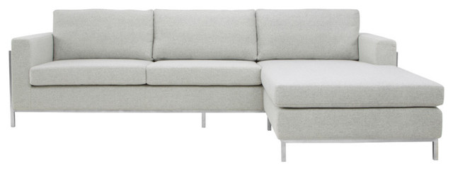 Camila Sectional, Stone, Material: Wool Blend.