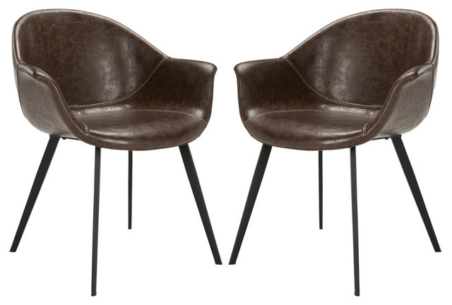 Swell Dublin Chair Set Of 2 Dark Brown Black Caraccident5 Cool Chair Designs And Ideas Caraccident5Info