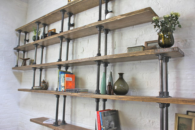Emilie Asymmetric Reclaimed Scaffolding Boards And Dark