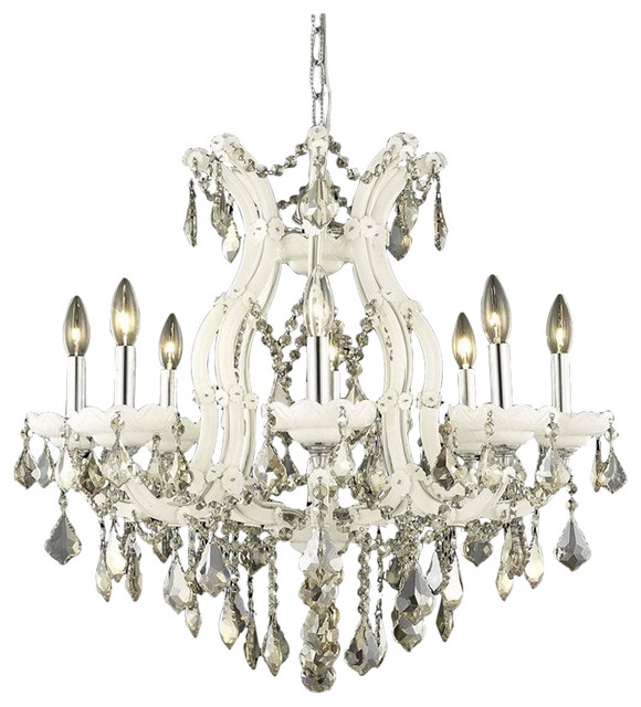 Elegant Dining Room Chandeliers: Elegant Lighting Maria Theresa Chrome Transitional Dining