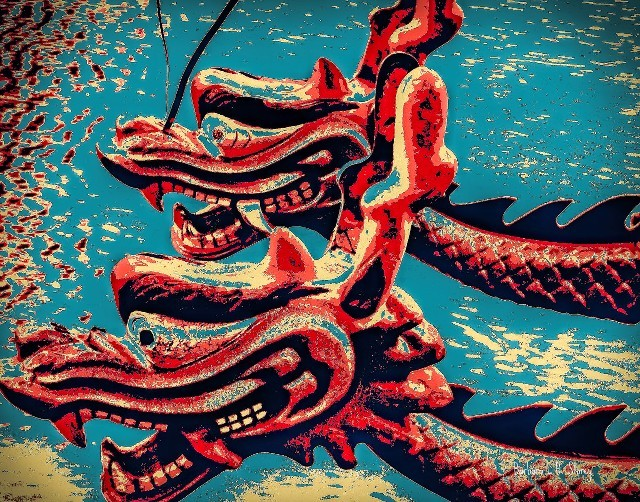 Chinese Dragon Boats - Pop Art Style\