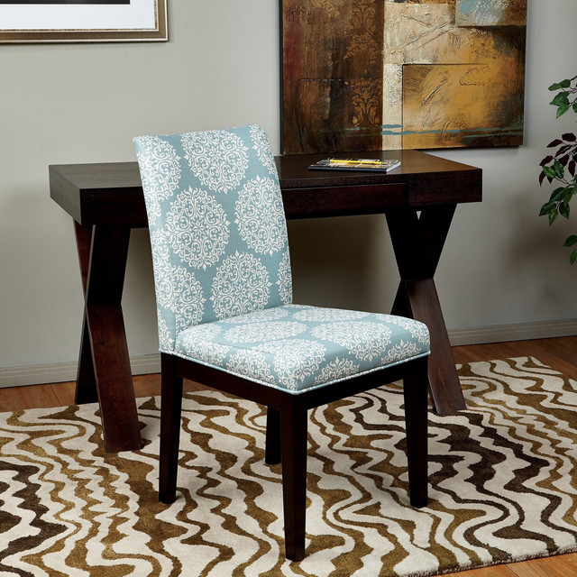 Parsons Versailles Medallion Upholstered Armless Chair
