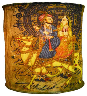 Hanging lamp shade with ancient indian camel design eclectic hanging lamp shade with ancient indian camel design aloadofball Image collections