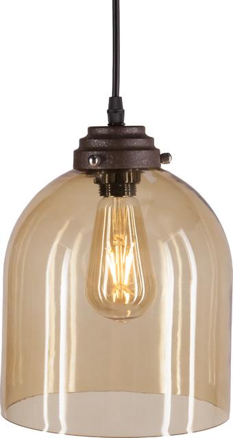 Pavo Colored Glass Mini Pendant Lamp - Industrial - Pendant Lighting - by HedgeApple