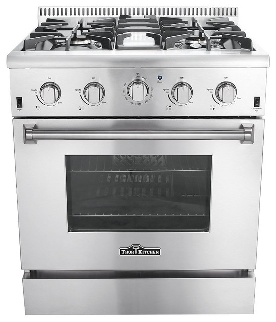 """30"""" Free standing 4-Burner Gas Range - Contemporary - Gas Ranges And Electric Ranges - by Royal ..."""
