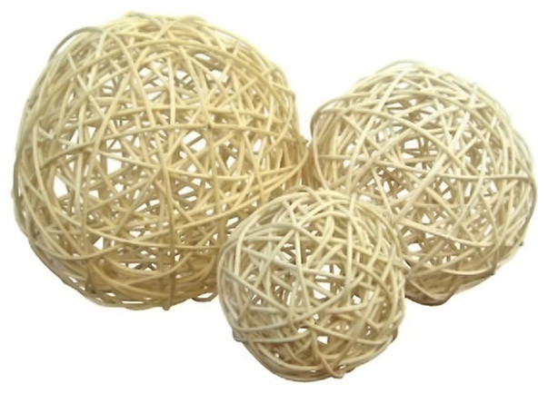 Cheungs Home Decor Natural Fiber Creme Colored Rattan 4040 Interesting Rattan Decorative Balls