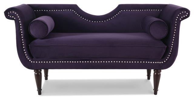 Outstanding Luna Upholstered Loveseat Purple Lamtechconsult Wood Chair Design Ideas Lamtechconsultcom