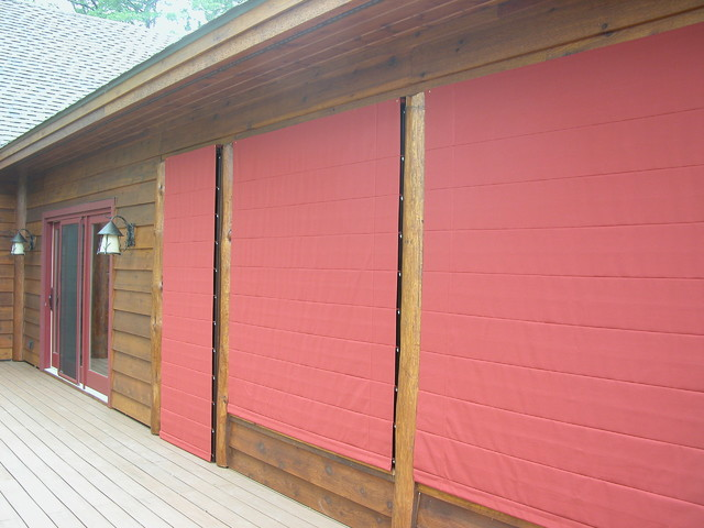 Porch Shades Keep The Weather And Dirt Out Rustic Part 49