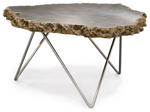 Petrified wood lava coffee table coffee tables accent tables - Palecek Lava Side Table Contemporary Side Tables And