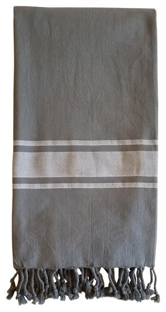 Turkish Towel Ibiza Weave, Charcoal