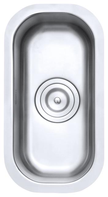 "Ruvati Rvm4119 Undermount 16 Gauge 9"" Narrow Bar Prep Sink."