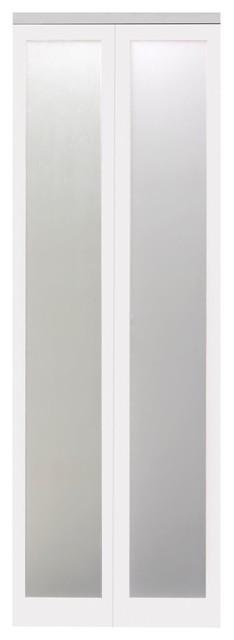Mir-Mel Mirror Solid Core Bi-Fold Door - Chrome Trim.