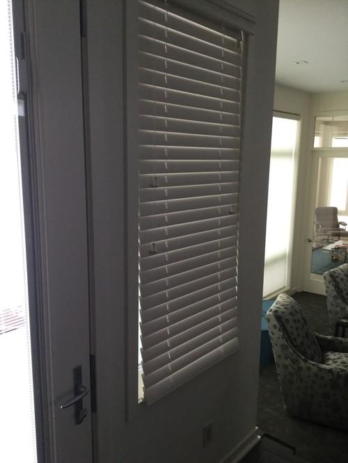 Casement window crank is in the way of wooden blind slats for Best blinds for casement windows
