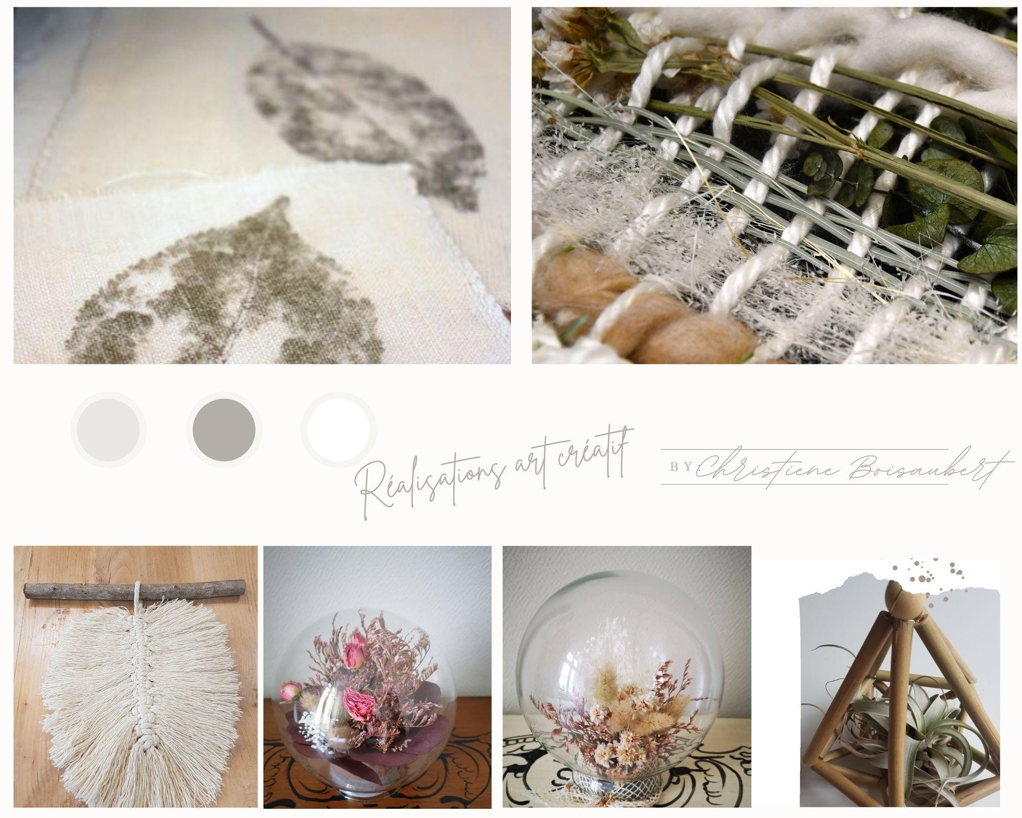 Ateliers d'art créatifs autour du végétal : Tataki Zome, Kokedama, Macramé Tissage végétal, bouquets de fleurs séchées