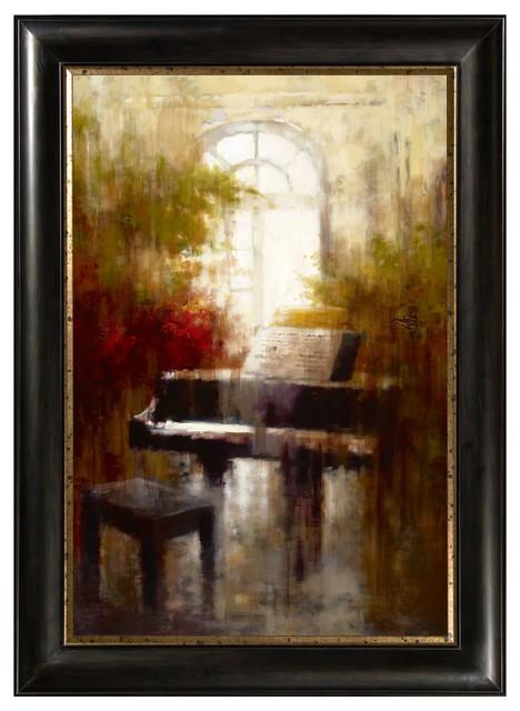 Framed Canvas Wall Art piano framed canvas wall art