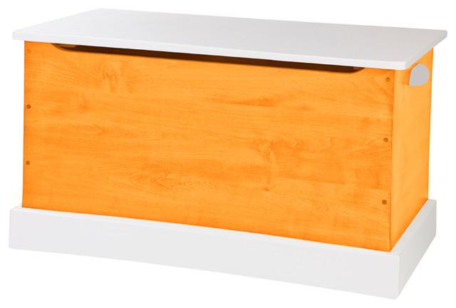 Surprising Usa Handmade Wood Toy Storage Box With Handles Orange And White Small Spiritservingveterans Wood Chair Design Ideas Spiritservingveteransorg
