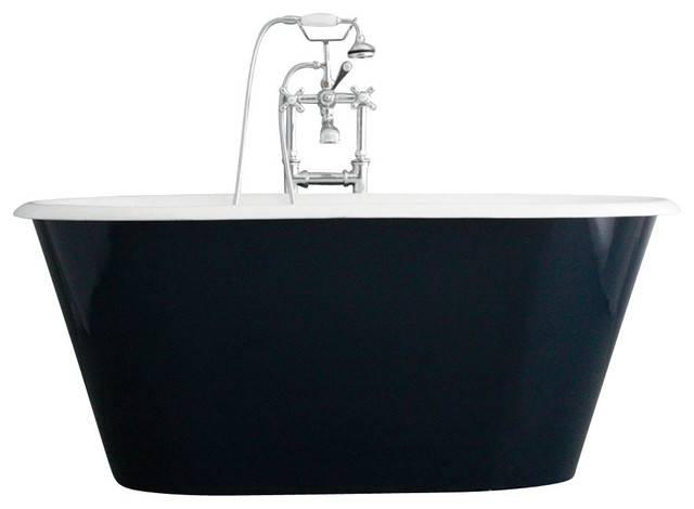 The Brinkburn 61 Cast Iron Double Ended Tub With Drain.