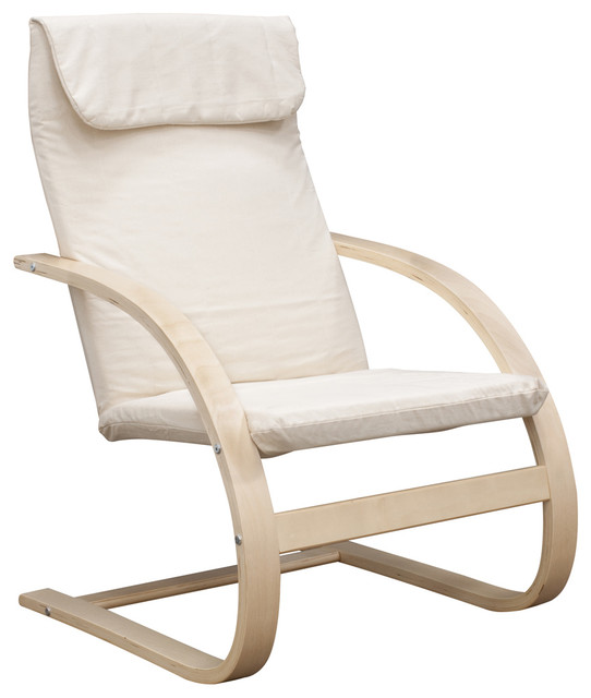 niche mia bentwood reclining chair natural and beige chairs