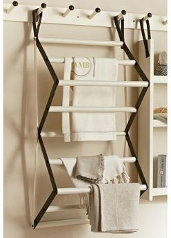 Gabrielle Laundry Organizer Drying Rack White