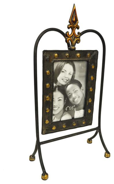 Tudor Decorative Metal 10x15 Cm Single Photo Frame Black Bronze