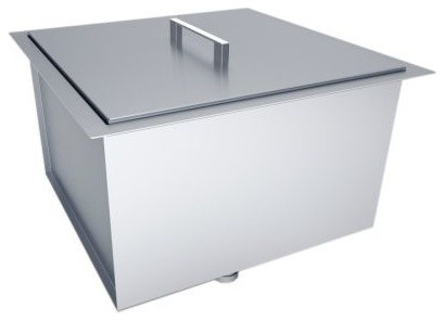 Over/under 20x12 H8 Single Basin Sink With Cover.