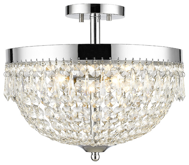 Z-Lite 431sf4-Ch 4-Light Semi Flush Mount.