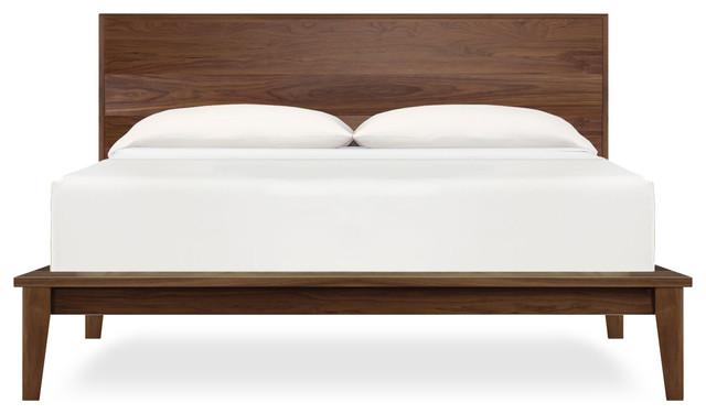 Soho Platform Bed, Natural Walnut, King