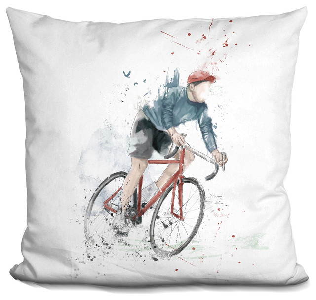 I Want To Ride My Bicycle Decorative Accent Throw Pillow.