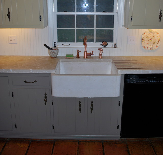 Concrete Countertops, Concrete Farm Sink - Eclectic - Miami - by ...