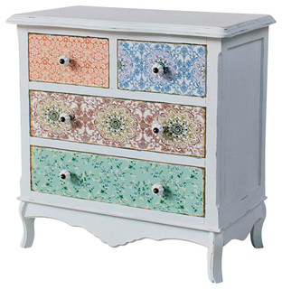 Country Pastel Dresser Eclectic Chests Of Drawers By