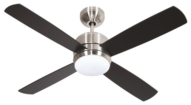 """Craftmade 44"""" Montreal Ceiling Fan, Brushed Polished Nickel."""