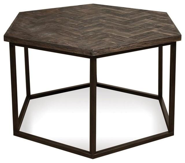 riverside furniture chevron hexagon cocktail table