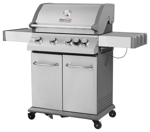 4-Burner Propane Gas Grill With Side Burner.