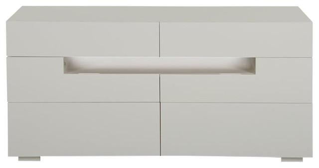 Modrest Ceres Modern Led White Lacquer Dresser.