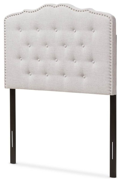 Contemporary Headboard, Grayish Beige, Full.