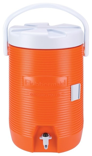 Rubbermaid Water Cooler, 3 Gl., Orange