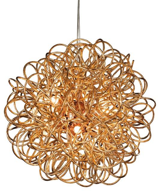 Stella Modern Pendant, Copper